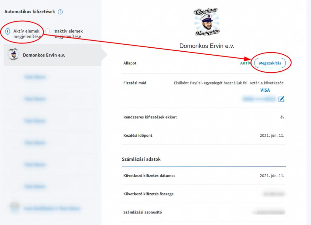 PayPal automatikus kifizetés megszakítása